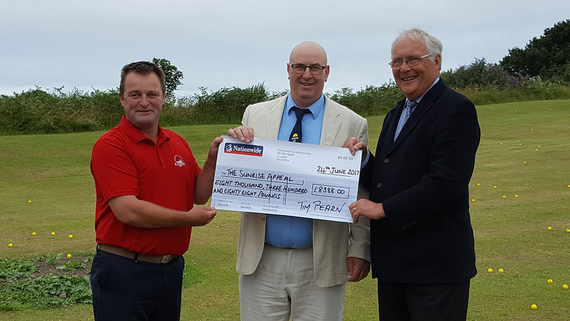 Sunrise Appeal Radnor Golf Cheque Image
